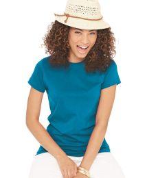 3616 LA T Juniors' Fine Jersey Longer Length T-Shirt
