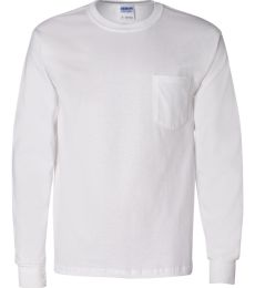 2410 Gildan 6.1 oz. Ultra Cotton® Long-Sleeve Pocket T-Shirt
