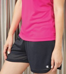 CA33 Champion Logo Ladies Active Mesh Shorts