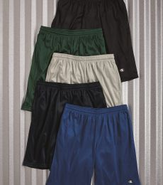 S162 Champion Logo Long Mesh Shorts with Pockets