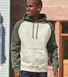 J8885 J-America Adult Vintage Heather Hooded Fleece