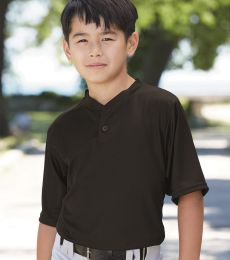 Augusta Sportswear 427 Youth Performance Two-Button Henley