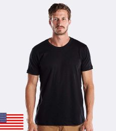 US Blanks US200OR Men's 5.8 oz. Short-Sleeve Organic Crewneck
