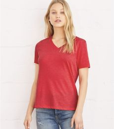 BELLA 6405 Ladies Relaxed V-Neck T-shirt