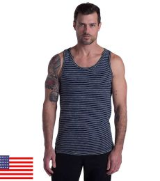 Men's Indigo Striped Tank