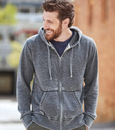 J8916 J-America Adult Vintage Zen Full-Zip Hooded Fleece