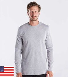 US Blanks US2090 Men's 4.3 oz. Long-Sleeve Crewneck