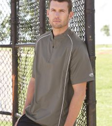Rawlings 9702 Short Sleeve Poly Dobby Quarter-Zip Pullover