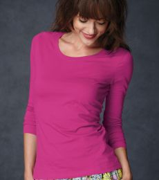 399 ANVIL LADIES SCOOP NECK L/S T