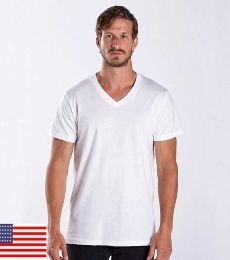 US Blanks US2200 Men's V-Neck T-shirt
