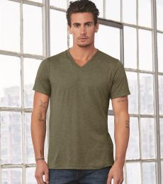 BELLA+CANVAS 3415 Men's Tri-blend V-Neck T-shirt