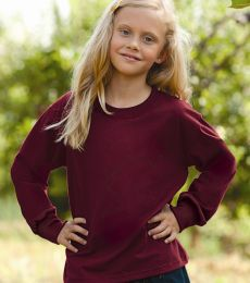 4930B Fruit of the Loom Youth 5 oz., 100% Heavy Cotton HD Long Sleeve T-Shirt
