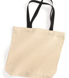 8868 UltraClub® Cotton Canvas Tote with Gusset and Contrasting Handles
