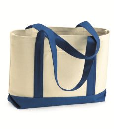 8869 UltraClub® Cotton Canvas Boat Tote