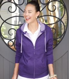 PRM650DZ Independent Trading Co. - Junior's Two-Color Deluxe Fleece