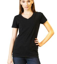 230B Threadfast Apparel Ladies' Pigment Dye Short-Sleeve V-Neck Tee
