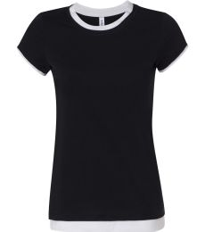BELLA 8102 Ladies Sheer 2 in 1 T-shirt