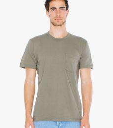 American Apparel 2406 Unisex Fine Jersey Pocket T-Shirt