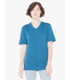 American Apparel 24321OW Unisex Organic Fine Jersey Short-Sleeve Classic V-Neck