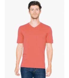3dfb39baee American Apparel 24321OW Unisex Organic Fine Jersey Short-Sleeve Classic  V-Neck