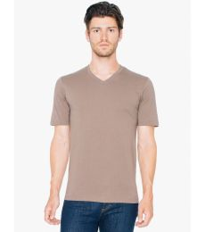 American Apparel 24321OW Unisex Organic Fine Jersey Short-Sleeve Classic V-Neck