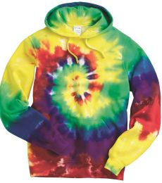 Dyenomite 854MS Multi-Color Spiral Pullover Hooded Sweatshirt