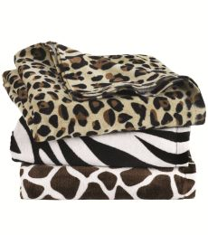 Carmel Towel Company C3060A Animal Print Velour Beach Towel