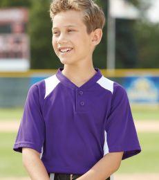 Augusta Sportswear 1521 Youth Gamer Colorblocked Baseball Henley