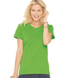 3507 LA T Ladies V-Neck Longer Length T-Shirt