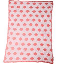 Colorado Clothing 2134 Chunky Chenille Polka Dot Baby Blanket