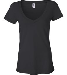 BELLA 8605 Ladies Burnout V-Neck T-shirt