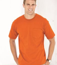 5070 Bayside Adult Short-Sleeve Cotton Tee with Pocket