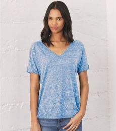 BELLA 8815 Womens Flowy V-Neck T-shirt