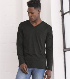 BELLA+CANVAS 3425 Mens Tri-Blend Long Sleeve V-Neck T-shirt