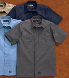 Wrangler WS20T Short Sleeve Work Shirt Tall Sizes