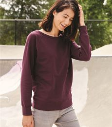 SS240 Independent Trading Co. Junior's Lightweight Crewneck Sweatshirt