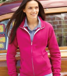 8635 J. America - Women's Sueded Fleece Full-Zip Sweatshir