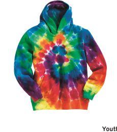 Dyenomite 854BMS Youth Multi-Color Swirl Hooded Sweatshirt