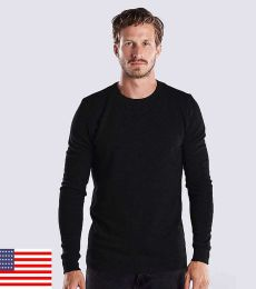 US Blanks US2900 Men's 5.8 oz. Long-Sleeve Thermal Crewneck