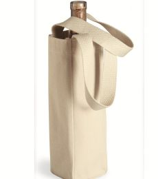Liberty Bags 1725 10 Ounce Cotton Canvas Single Bottle Wine Tote