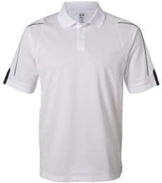 A76 adidas Golf Mens ClimaLite® 3-Stripes Cuff Polo -- Arriving Early 2010