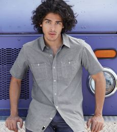B9257 Burnside - Mini-Check Short Sleeve Shirt