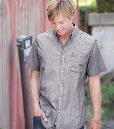 B9259 Burnside Stretch-Stripe Short Sleeve Shirt