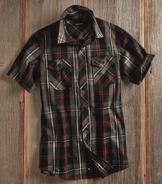 Burnside 9202 Plaid Short Sleeve Shirt
