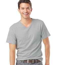 6907 LA T Adult Fine Jersey V-Neck T-Shirt