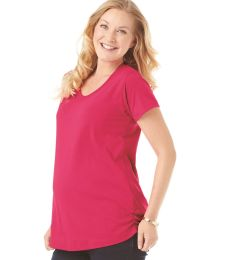 3509 LAT Ladies Fine Jersey Scoopneck Maternity Top