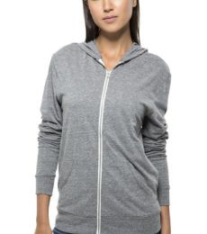 302Z Threadfast Apparel Unisex Triblend Full-Zip Light Hoodie