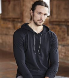 987 Anvil Ringspun Long-Sleeve Hooded T-Shirt
