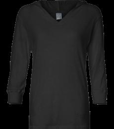 J. America - Ladies' ¾ Sleeve Hooded Slub Tee - 8153