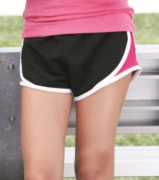 Boxercraft P62Y Girls' Velocity Running Shorts